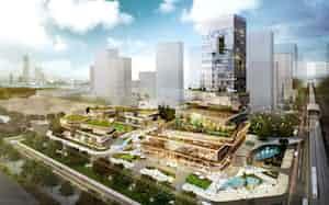 ベトナム・ハノイ近郊では商業施設やオフィスなどの総合開発を計画する