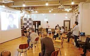 名古屋市内のスタートアップ支援施設では、愛知県がイベントを催すなどして活性化を図っている