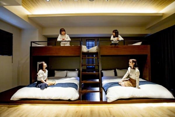 最大で6人が入れる客室をそなえ、観光客の需要を見込む(高松市)