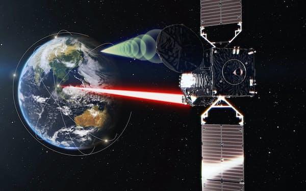 基幹ロケット「H2A」43号機に搭載したJAXAの光衛星間通信システム「LUCAS」=JAXA提供