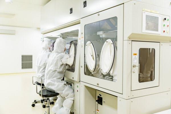 アエラスバイオは専用の施設で約1カ月かけて歯の神経の細胞を培養する