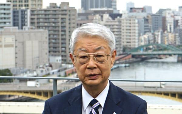 ヒューリックの西浦三郎会長は隅田川を活用した街づくりで東京の魅力向上をめざす(東京都墨田区)