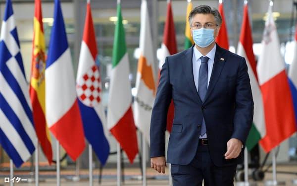 クロアチアのプレンコビッチ首相=ロイター