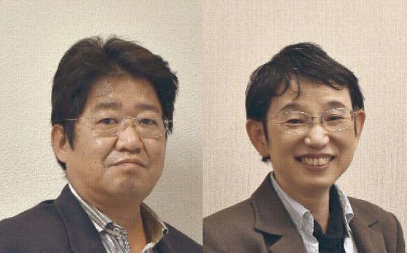 筑波技術大学の嶋村幸仁就職委員長(左)と加藤伸子就職副委員長