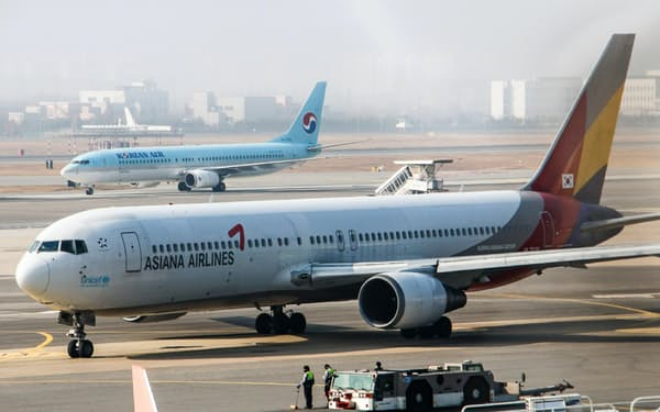 大韓航空のアシアナ航空買収は大きく前進した(ソウル近郊の金浦空港)