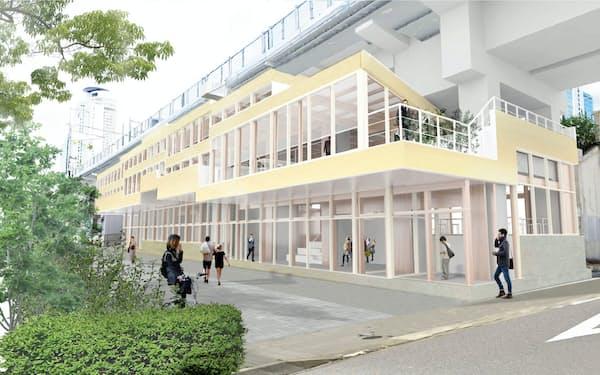 名古屋駅南側に新築する「笹島高架下オフィス」(イメージ)