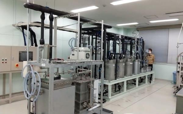 東北大のキャンパス内に抗酸化成分を抽出する設備を導入した(仙台市)