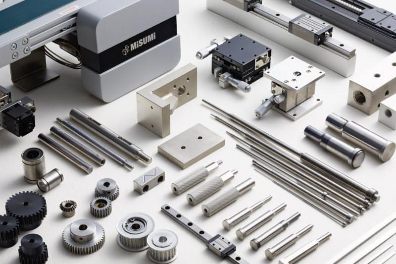 ミスミグループ本社は機械部品を中心に800垓もの製品を取り扱う