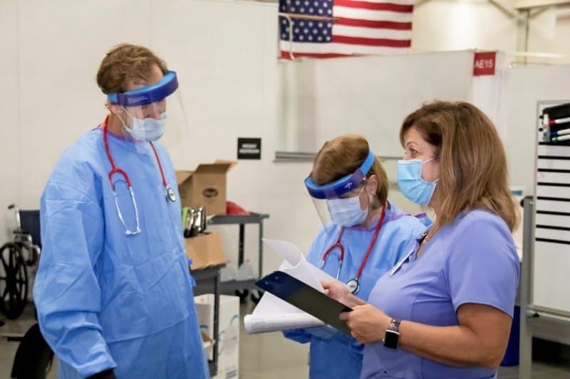 米国では新型コロナの入院患者数が増加している(ウィスコンシン州の病院)=ロイター