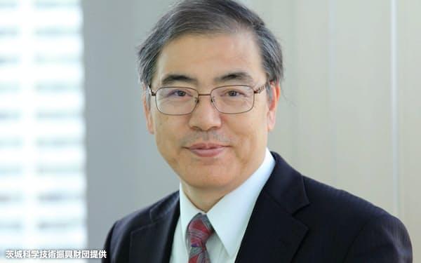 東北大学の平山祥郎教授(茨城県科学技術振興財団提供)