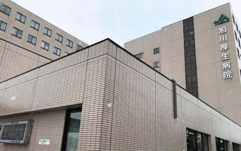 クラスターが発生した旭川厚生病院(3日、北海道旭川市)