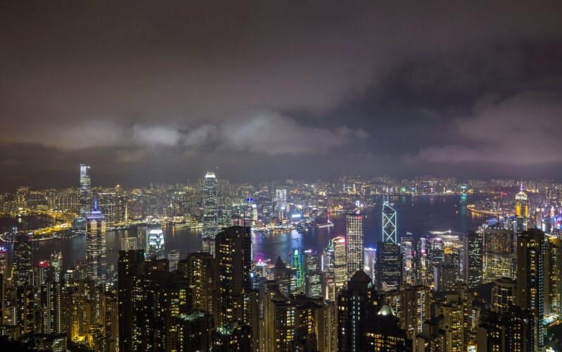 ビジネス都市としての香港の地位が揺れる=AP