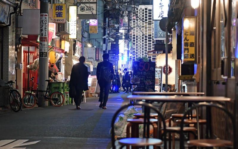 時短要請1週間、繁華街の人出は? 大阪は1カ月で37%減