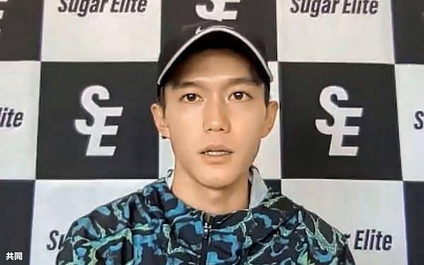 オンライン取材に応じる東京五輪男子マラソン代表の大迫傑(20日)=共同