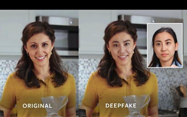 ディープフェイクは動画内の顔を入れ替えることで他人になりすますことが可能に