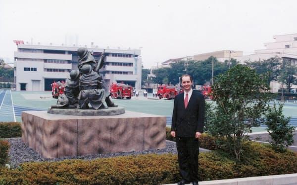 消防大学校などに講師として招かれ、消防の国際化などを語った