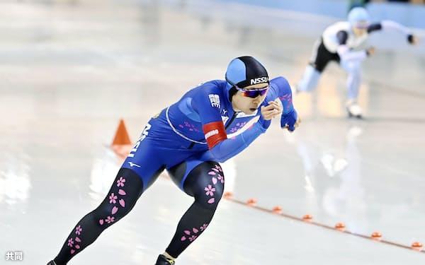 女子1000メートル 優勝した高木美帆(29日、明治北海道十勝オーバル)=共同