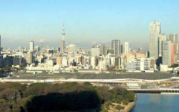 都心では再開発でオフィス街の誕生が相次ぐ(再開発される予定の築地市場跡地)