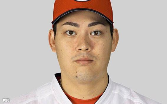 プロ野球広島の九里亜蓮投手=共同