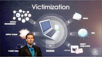 ビッグデータを駆使したセキュリティー・システムを紹介するスチュアート・マッキュレー氏(CEO、CYLANCE)