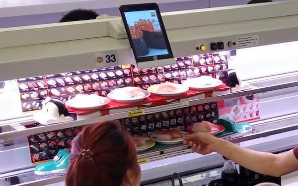 アジアの外食店で国産米に切り替える動きも(シンガポールの元気寿司)