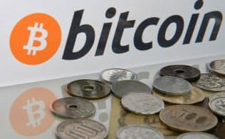 ビットコインのPC画面と通貨
