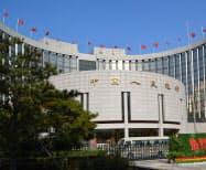 人民銀は不透明感が強まる中国景気の下支えを狙う=北京市の本店
