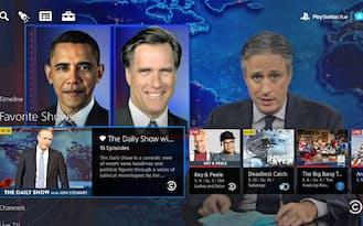 SCEが米国で3月にサービスを始めるTV番組配信サービス「PS Vue」のイメージ画面