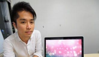 CGクリエーターの望月大志さん。指名で制作依頼してくるクライアントがいるほどの「売れっ子クリエーター」(ローカスの滝社長)だ。