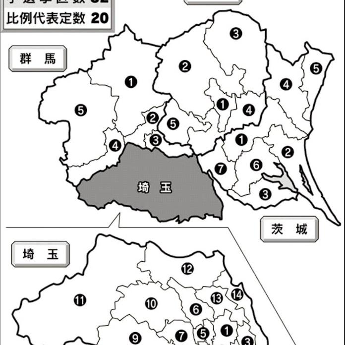 北関東 埼玉5区、牧原と枝野競る: 日本経済新聞