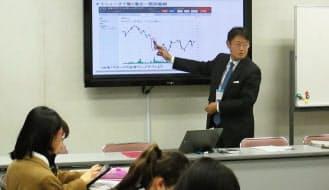 チャートを使って具体的に株価が動いた瞬間を解説するマネックス証券・広木氏