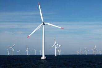 エーオンは欧州の洋上風力で70万キロワットもの発電を手がける(デンマーク沖)=エーオン提供