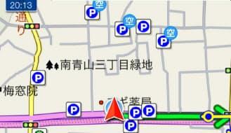 VWのアプリでは、多くの無料カーナビアプリと異なり、道路標識も出る