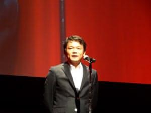 「ヤフー!ニュース」のイベントであいさつするヤフーの宮坂学社長(1日、東京都・中央区)
