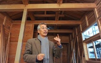 「規格化・均質化された建築に豊かさを取り戻したいと語る筑波大学名誉教授の安藤邦広さん