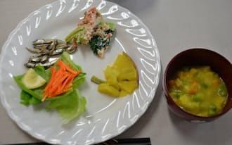妊婦の食事は簡単に作れてすぐつまめるものが好まれる(講習会で作った料理の一例)