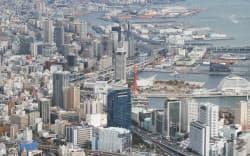 阪神大震災から20年を迎える神戸市中心部(7日)