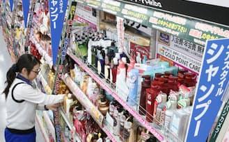 シャンプーなど非家電商品の取り扱いも拡充(22日、東京都千代田区のヨドバシカメラマルチメディアAkiba)