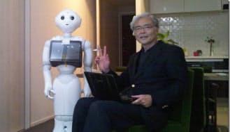 村沢氏は「ペッパー」向けのアプリ開発を考えている