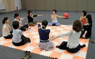 日本公庫では育休復帰前の職員向けセミナーで産後ケア講座を初めて採り入れた
