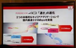 ドコモのLTEアドバンストでは、800MHz帯+1.7GHz帯、1.5GHz帯+2.1GHz帯の2通りでキャリアアグリゲーションを展開する