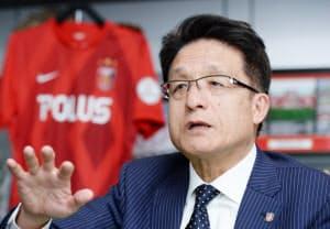淵田社長は「サポーターとお互いに切磋琢磨しながら育っていくことが大事」と語る