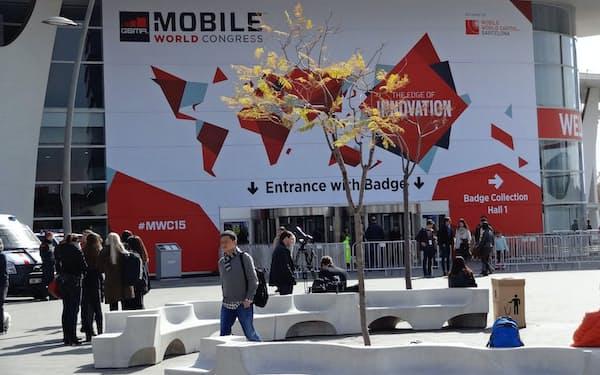 「モバイル・ワールド・コングレス(MWC)2015」では携帯通信の次世代規格が話題の中心になっている(スペイン・バルセロナ)