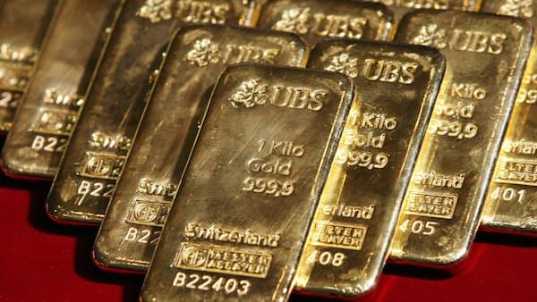 買い続かぬ金、上値重く 株・ドルに資金流出