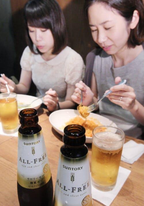 ノンアルコールビールは女性にも人気(東京都豊島区のプロント東武池袋駅店)