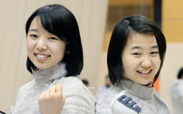 東京五輪でメダルが期待される向江(左)と高嶋