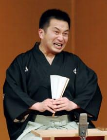 米朝の十八番だった「地獄八景亡者戯」を熱演する桂吉弥