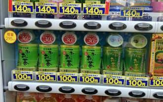 ホット商品以外でも100円販売が出てきた「お~いお茶」(東京都内)