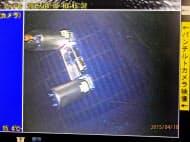格納容器の中の調査用ロボット(国際廃炉研究開発機構提供)