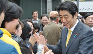11日に金沢市を訪れた安倍首相=代表撮影